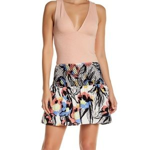 Free People Printed Mini Skirt Size M